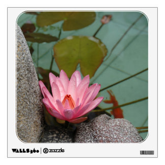 Asia, Vietnam. Water lily in a temple pond Wall Sticker