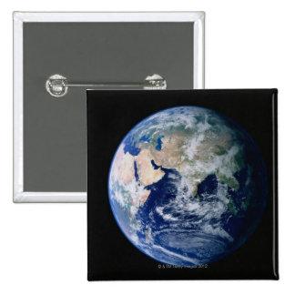 Asia vista de espacio pin cuadrado