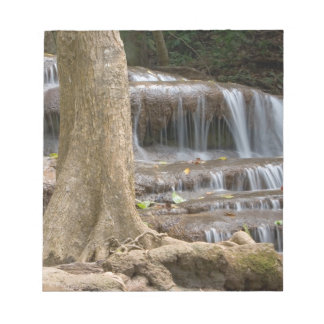 Asia, Waterfall on the border between Thailand Notepad