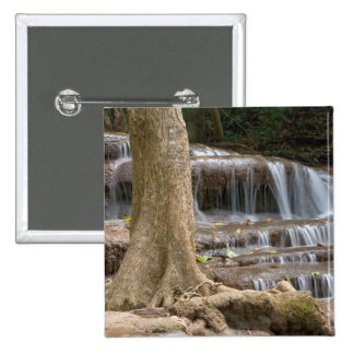 Asia, Waterfall on the border between Thailand Pinback Button