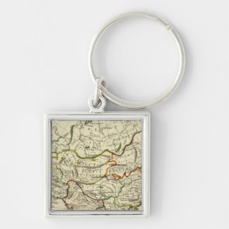 Asia with boundaries outlined keychain