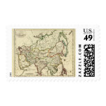 Asia with boundaries outlined postage