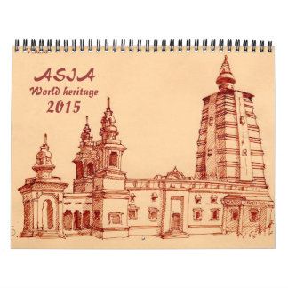 Asia world heritage calendar