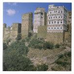 Asia, Yemen, Al Hajjara. Edificios y solamente Teja Ceramica