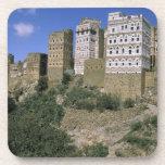 Asia, Yemen, Al Hajjara. Edificios y solamente Posavasos De Bebida