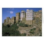 Asia, Yemen, Al Hajjara. Edificios y solamente Tarjetas