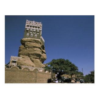Asia, Yemen, lecho de un río seco Dhar. Palacio de Postal