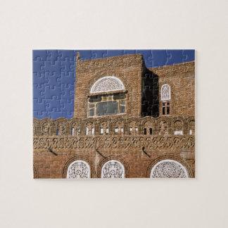 Asia, Yemen, Sana'a. Yemeni architecture detail. Jigsaw Puzzle