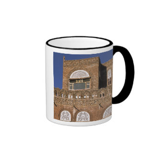 Asia, Yemen, Sana'a. Yemeni architecture detail. Ringer Mug