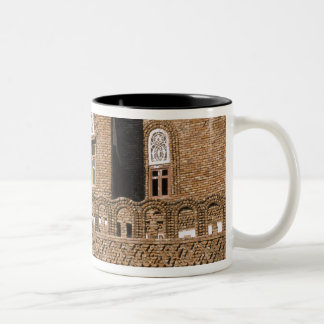 Asia, Yemen, Sana'a. Yemeni architecture detail. Two-Tone Coffee Mug