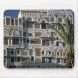 Asia, Yemen, Sana'a. Yemeni house. Mouse Pad
