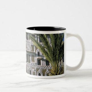 Asia, Yemen, Sana'a. Yemeni house. Two-Tone Coffee Mug