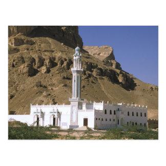 Asia Yemen Tarim Mezquita blanca Tarjeta Postal