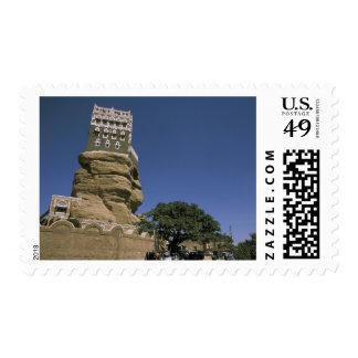 Asia, Yemen, Wadi Dhar. Rock Palace, or Dar Al Postage