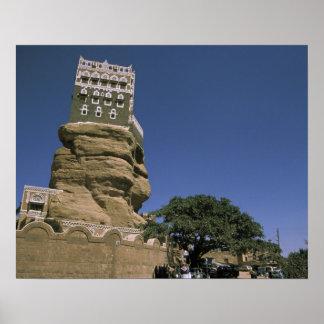 Asia, Yemen, Wadi Dhar. Rock Palace, or Dar Al Poster
