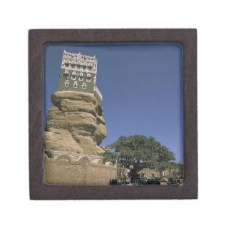 Asia, Yemen, Wadi Dhar. Rock Palace, or Dar Al Premium Keepsake Box