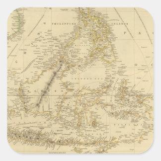 AsiaIndonesia suroriental Pegatina Cuadrada