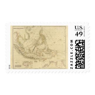 AsiaIndonesia suroriental Sello Postal