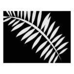 Asian Abstract Leaf 1 Poster