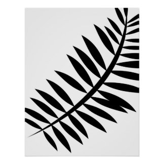Asian Abstract Leaf 4 Poster