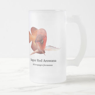 Asian Arowana Frosted Glass Beer Mug
