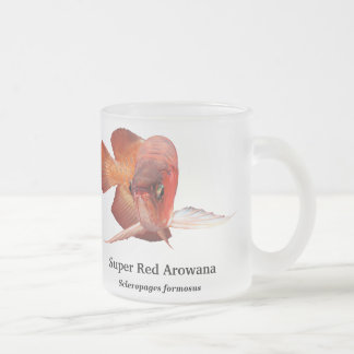 Asian Arowana Frosted Glass Coffee Mug