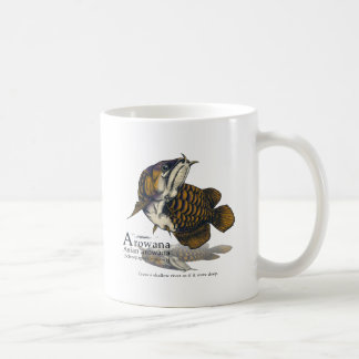 Asian arowana - navy coffee mug