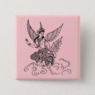 ASIAN ART ANGEL BUTTON