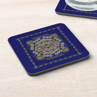 Asian Art Deco Traditional Jeweled Coaster