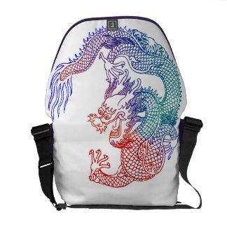 Asian Art Dragon Messenger Bag