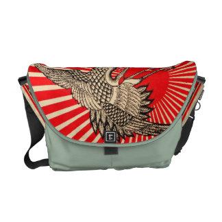 Asian Art Flash Crane Messenger Bag