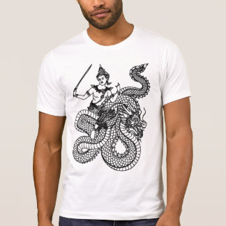 ASIAN ART GOD ON DRAGON T-Shirt