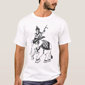 ASIAN ART GOD ON ELEPHANT T-Shirt