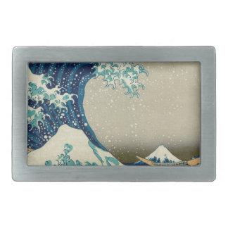 Asian Art - The Great Wave off Kanagawa Belt Buckle