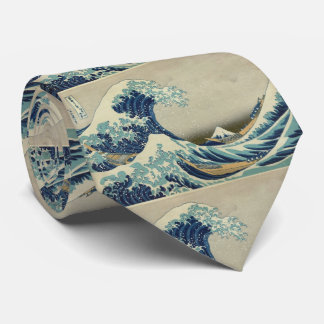 Asian Art - The Great Wave off Kanagawa Neck Tie