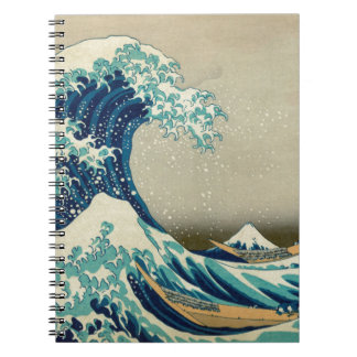 Asian Art - The Great Wave off Kanagawa Notebook