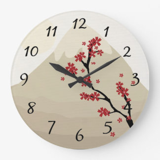 Asian Art Wall Clock