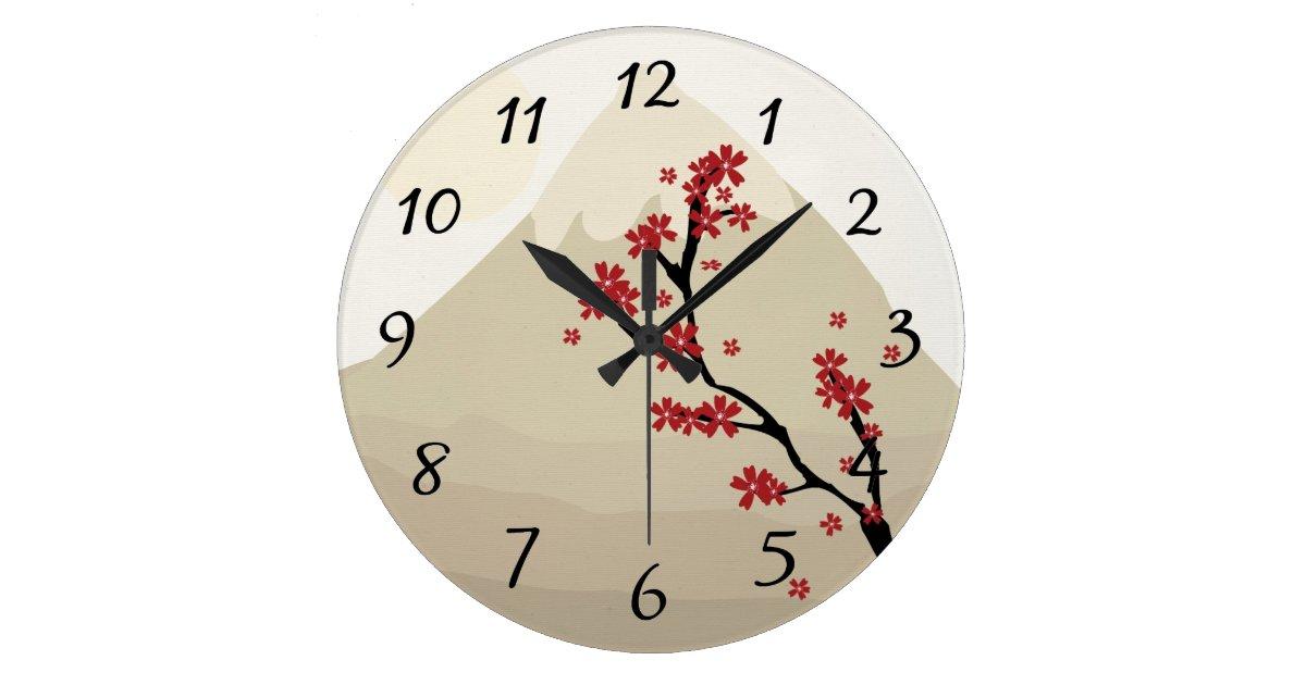 Wall Clock Artwork : Asian art wall clock zazzle