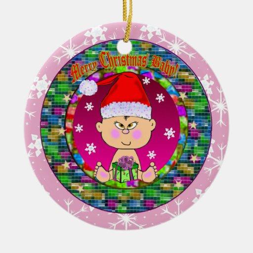 Asian Baby Christmas Ornament