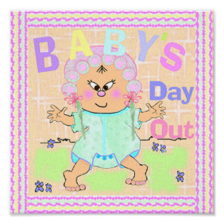 Asian Baby's Day Out Print on Canvas