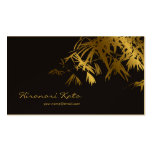 Asian Bamboo Leaves Gold Black Zen Profile Cards