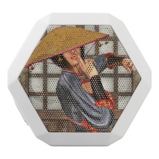 Asian Battle Woman White Bluetooth Speaker