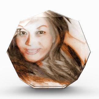 Asian beauty lady woman girl acrylic award