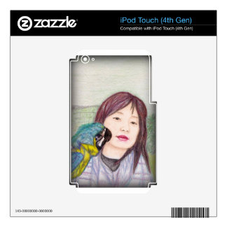 Asian beauty lady woman girl iPod touch 4G decal