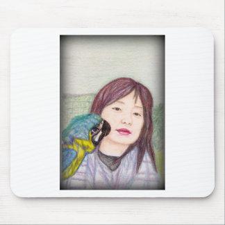 Asian beauty lady woman girl mouse pad
