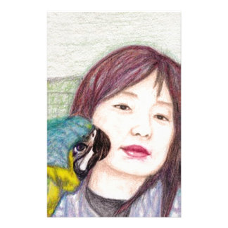 Asian beauty lady woman girl stationery