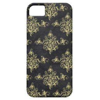Asian Black and Gold Glitter Florish iPhone iPhone SE/5/5s Case