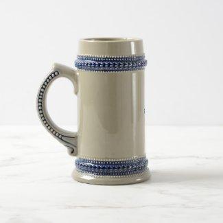 Asian Blue Dragon Clouds mug