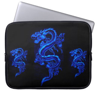 Asian Blue Dragon Laptop Sleeve