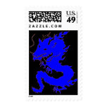 Asian Blue Dragon Postage Stamp - Customized